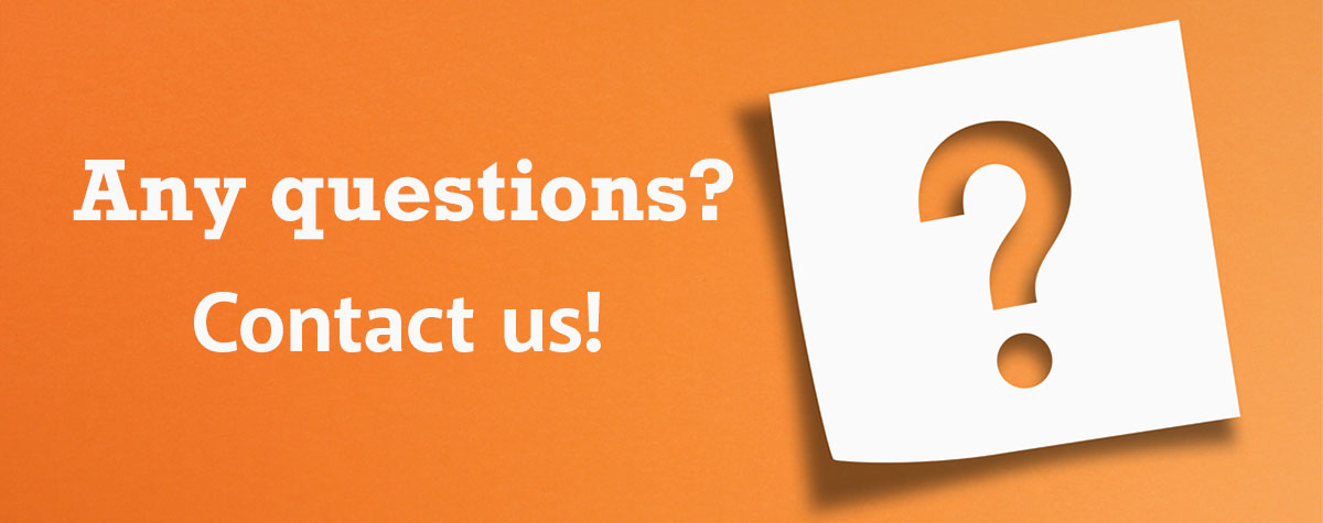 Any questions? Contact us!